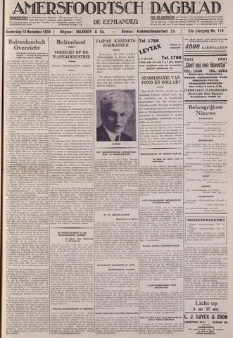Amersfoortsch Dagblad / De Eemlander 1934-11-15