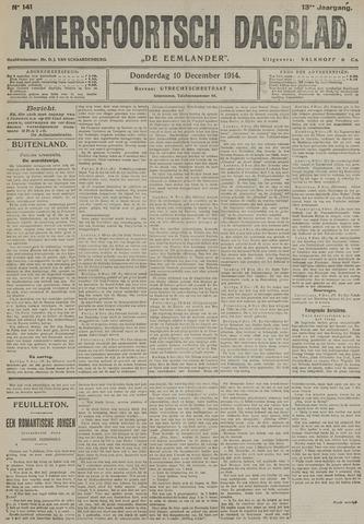 Amersfoortsch Dagblad / De Eemlander 1914-12-10