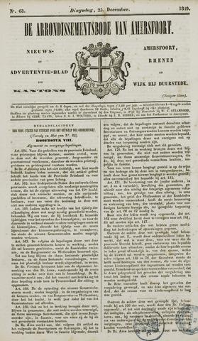 Arrondissementsbode van Amersfoort 1849-12-25