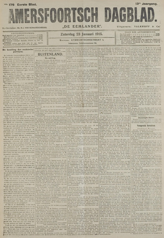 Amersfoortsch Dagblad / De Eemlander 1915-01-23