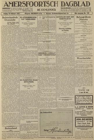 Amersfoortsch Dagblad / De Eemlander 1932-02-19