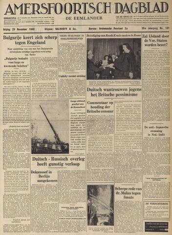 Amersfoortsch Dagblad / De Eemlander 1940-11-29