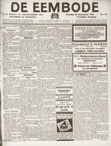 De Eembode 1926-09-28