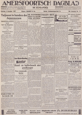 Amersfoortsch Dagblad / De Eemlander 1937-11-06