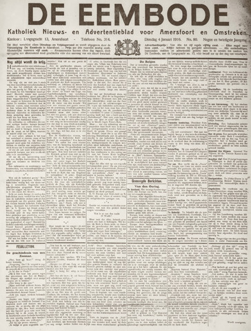 De Eembode 1916