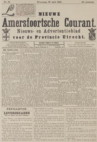 Nieuwe Amersfoortsche Courant 1916-04-26