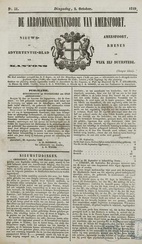 Arrondissementsbode van Amersfoort 1849-10-02