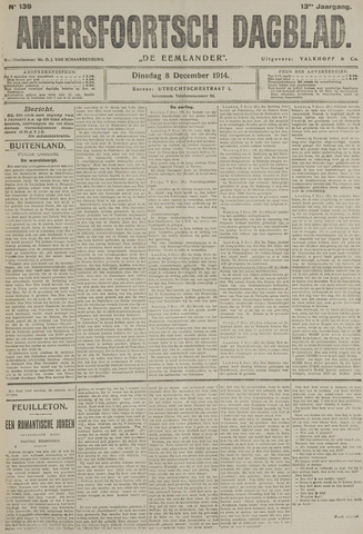 Amersfoortsch Dagblad / De Eemlander 1914-12-08