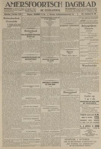 Amersfoortsch Dagblad / De Eemlander 1933-10-02