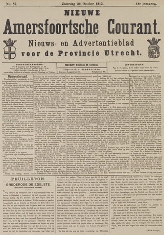 Nieuwe Amersfoortsche Courant 1915-10-30