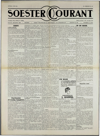 Soester Courant 1954-06-01