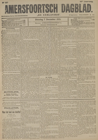 Amersfoortsch Dagblad / De Eemlander 1915-12-07