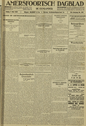 Amersfoortsch Dagblad / De Eemlander 1934-05-11
