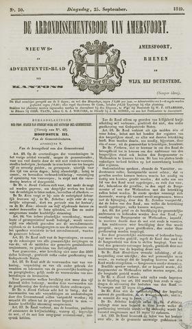 Arrondissementsbode van Amersfoort 1849-09-25