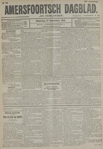 Amersfoortsch Dagblad / De Eemlander 1915-09-27