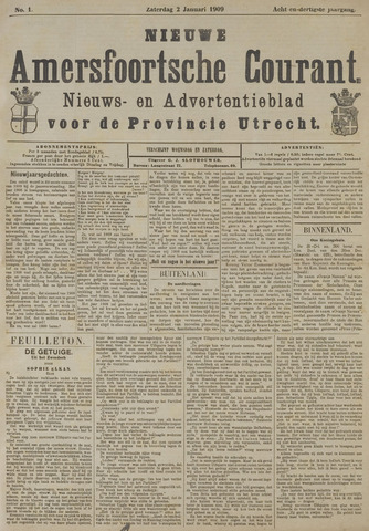 Nieuwe Amersfoortsche Courant 1909-01-02