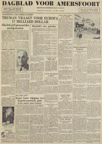 Dagblad voor Amersfoort 1947-12-20
