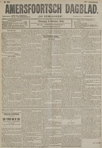 Amersfoortsch Dagblad / De Eemlander 1916-10-03
