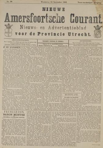 Nieuwe Amersfoortsche Courant 1903-11-11