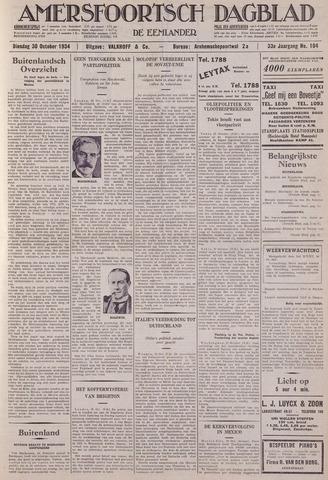 Amersfoortsch Dagblad / De Eemlander 1934-10-30