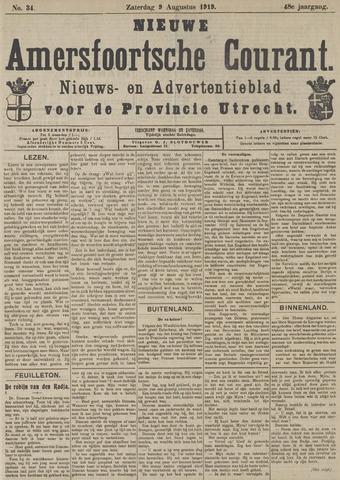 Nieuwe Amersfoortsche Courant 1919-08-09