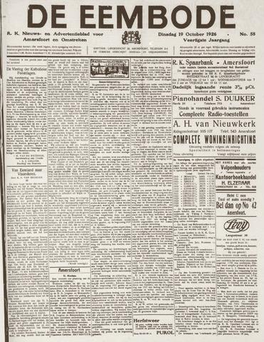De Eembode 1926-10-19
