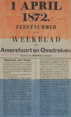Weekblad voor Amersfoort en Omstreken 1872-04-01