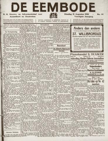 De Eembode 1926-08-31