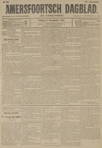 Amersfoortsch Dagblad / De Eemlander 1915-11-05