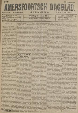Amersfoortsch Dagblad / De Eemlander 1916-01-18