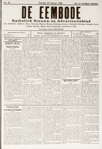 De Eembode 1908-02-22