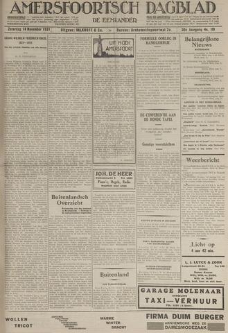 Amersfoortsch Dagblad / De Eemlander 1931-11-14