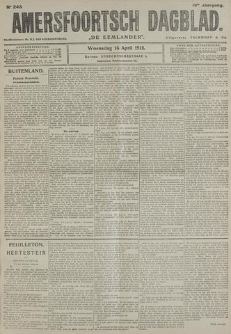 Amersfoortsch Dagblad / De Eemlander 1915-04-14