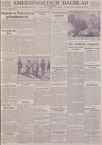 Amersfoortsch Dagblad / De Eemlander 1942-02-07