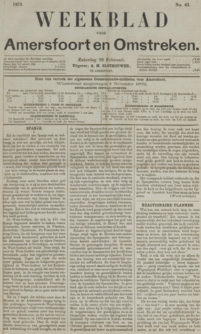 Weekblad voor Amersfoort en Omstreken 1873-02-22