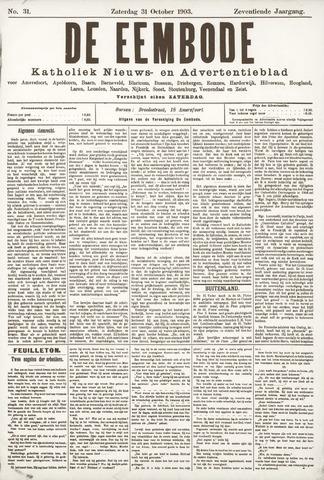 De Eembode 1903-10-31