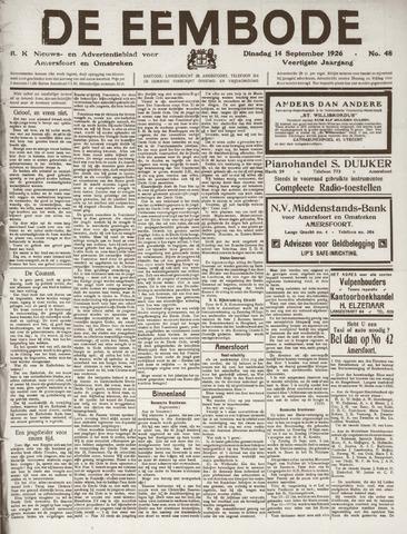 De Eembode 1926-09-14