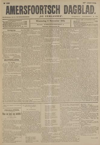 Amersfoortsch Dagblad / De Eemlander 1915-11-03