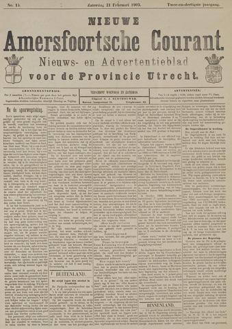 Nieuwe Amersfoortsche Courant 1903-02-21