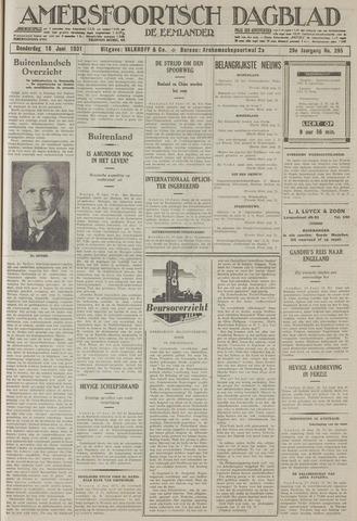Amersfoortsch Dagblad / De Eemlander 1931-06-18
