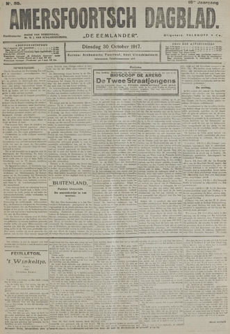 Amersfoortsch Dagblad / De Eemlander 1917-10-30