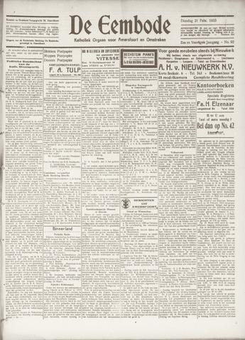 De Eembode 1933-02-21