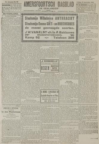 Amersfoortsch Dagblad / De Eemlander 1922-09-15