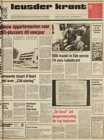 Leusder Krant 1985-01-22