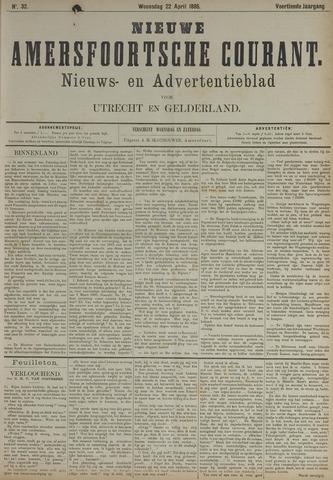 Nieuwe Amersfoortsche Courant 1885-04-22