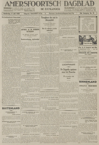 Amersfoortsch Dagblad / De Eemlander 1930-07-17