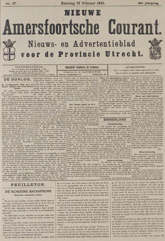 Nieuwe Amersfoortsche Courant 1915-02-27