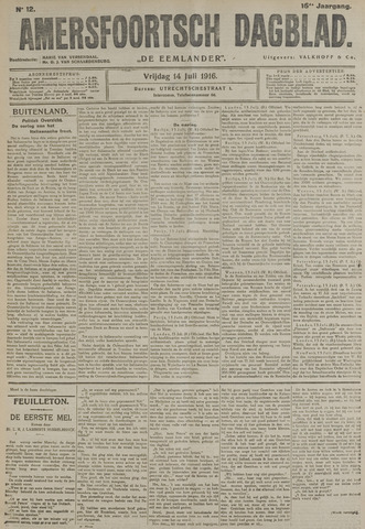 Amersfoortsch Dagblad / De Eemlander 1916-07-14