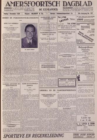 Amersfoortsch Dagblad / De Eemlander 1934-12-07