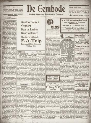 De Eembode 1933